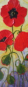 Paris Wyatt Llanso Posters - Red Poppies Poster by Paris Wyatt Llanso