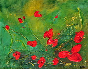 Red Poppies Print by Teresa Wegrzyn