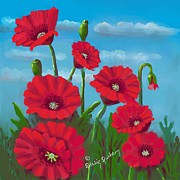 Dessie Durham - Red Poppy Flowers