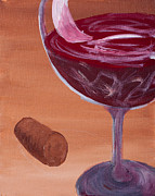 Malbec Paintings - Red Red Wine by Ginny Heavner