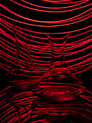 Abstraction Photo Posters - Red rhythm II Poster by Davorin Mance
