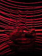 Abstraction Art - Red rhythm III by Davorin Mance