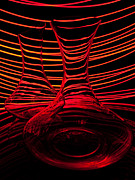 Abstraction Art - Red rhythm IV by Davorin Mance
