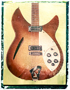 Guy Gifts For Him Posters - Red Rickenbacker Guitar Art Print Poster by Artful Musician NY