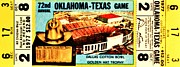 Southwest Oklahoma Framed Prints - Red River Rivalry 77 Framed Print by Benjamin Yeager