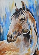 Veronica Silliman - Red Roan Mustang Abstract