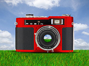 Rangefinder Metal Prints - Red Robin Metal Print by Mike McGlothlen
