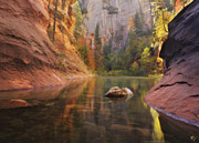 Oak Creek Canyon Prints - Red Rock Autumn Print by Peter Coskun