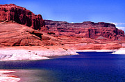 Man-made Lake Framed Prints - Red Rock Blue Sky Framed Print by Thomas R Fletcher