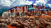 Red Rock Canyon California State Park Print by Nadine and Bob Johnston