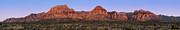 Dawn Posters - Red Rock Canyon pano Poster by Jane Rix