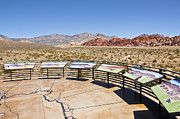 Observations Prints - Red Rock Canyon visitor center observations Nevada. Print by Gino Rigucci