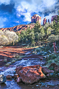 Red Rock Crossing Framed Prints - Red Rock Crossing Framed Print by Randy Jackson