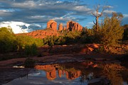 Red Rock Crossing Framed Prints - Red Rock Crossing Reflection Framed Print by Victor Q Flores