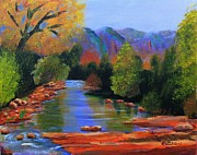 Roy Gould Art - Red Rock Crossing by Roy Gould