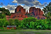 Red Rock Crossing Framed Prints - Red Rock Crossing State Park Sedona Framed Print by K D Graves
