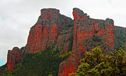 Rioja Metal Prints - Red Rock face Metal Print by John Stuart Webbstock