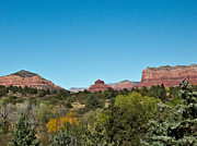 Oak Creek Prints - Red Rock Formation Sedona Arizona 17 Print by Douglas Barnett