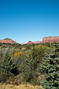 Oak Creek Prints - Red Rock Formation Sedona Arizona 18 Print by Douglas Barnett