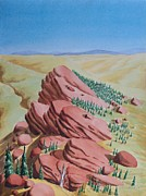 Canyons Paintings - Red Rock by Gary Rowell