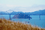 San Rafael Bridge Prints - Red Rock Print by John Welles