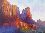 Park Scene Originals - Red Rock Ridge by Terry  Chacon