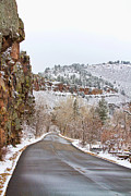 Scenic Drive Metal Prints - Red Rock Winter Drive Metal Print by James Bo Insogna