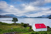 Wester Ross Prints - Red Roof Cottage Print by Maciej Markiewicz