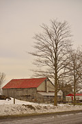 Red Roofed Barn Metal Prints - Red Roof Metal Print by Joshua McCullough