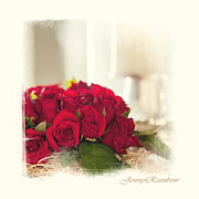 Combination Photos - Red Rose Wish. Elegant KnickKnacks from JennyRainbow by Jenny Rainbow