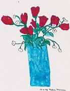 Thelma Harcum - Red Roses in Vase
