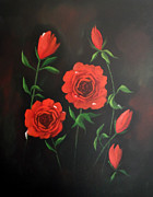 Cynthia Adams - Red Roses Weeping