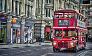 Coaches Prints - Red Routemaster Print by Heather Applegate