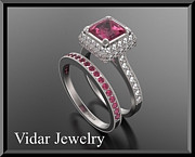 Roi Avidar - Red Ruby And Diamond 14k...