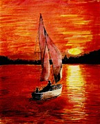 Todd Spaur - Red Sail Sunset
