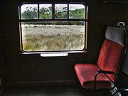 Window Signs Art - Red Seat By Window by Nina Ficur Feenan
