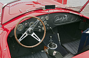 Signed Photos - Red Shelby Motors Roadster signed by Carroll Shelby by David  Zanzinger