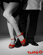 Ballroom Mixed Media Posters - Red Shoes Poster by Doug Walker