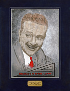 Red Skelton Portrait Print by Herb Strobino
