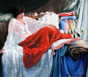 Soothing Paintings - Red Skirt by Kevin Lawrence Leveque
