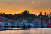 Fishing Village Posters - Red Sky at Night Poster by Matt Dobson