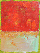 Alizarin Crimson Paintings - Red Sky At Night by Paulette Wright