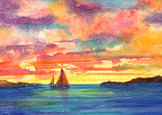 Van Dyke Art - Red Sky at Night by Teri  Jones