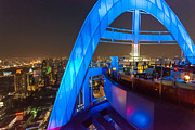 Rooftop Framed Prints - Red Sky Bar in Bangkok Thaila Framed Print by Fototrav Print