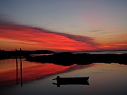 Garrison Cove Photos - Red Sky In Morning by Donnie Freeman
