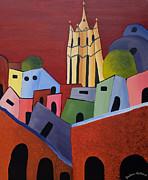 Barbara McMahon - Red Sky in San Miguelle de Allende