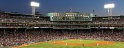 Panoramic Photographs Framed Prints - Red Sox and Fenway Park  Framed Print by Juergen Roth