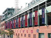 Red Sox Metal Prints - Red Sox Heroes Metal Print by Sue  Thomson
