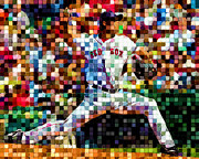 Red Sox Art Digital Art Posters - Red Sox Nation Poster by T Fiala