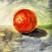 Michelle Calkins - Red Sphere with Grey